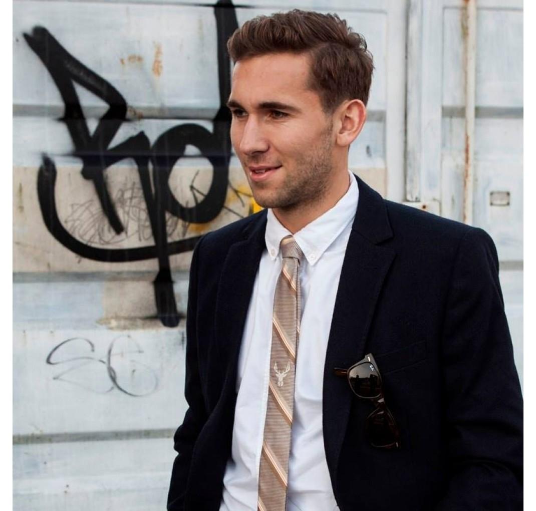 Frank slips - Guldvævet