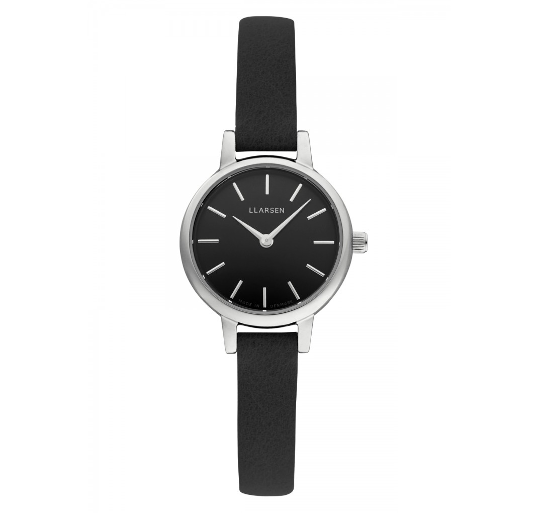 LLARSEN LYKKE Steel Watch Coal Leather