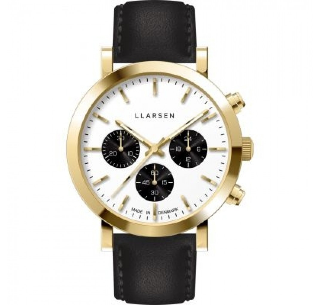 LLARSEN NoA Gold watch and leather