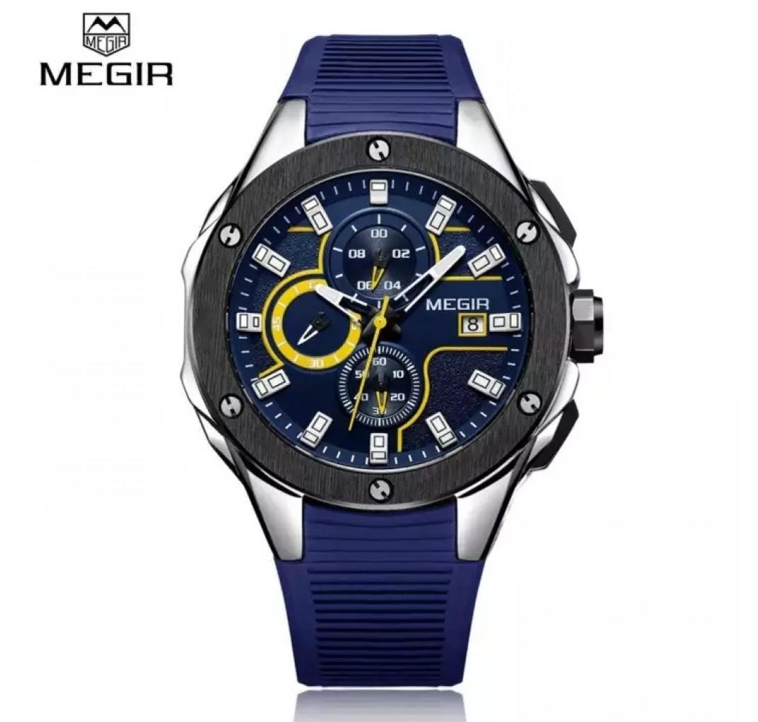 MEGIR Chronograf Sportsur Yellow