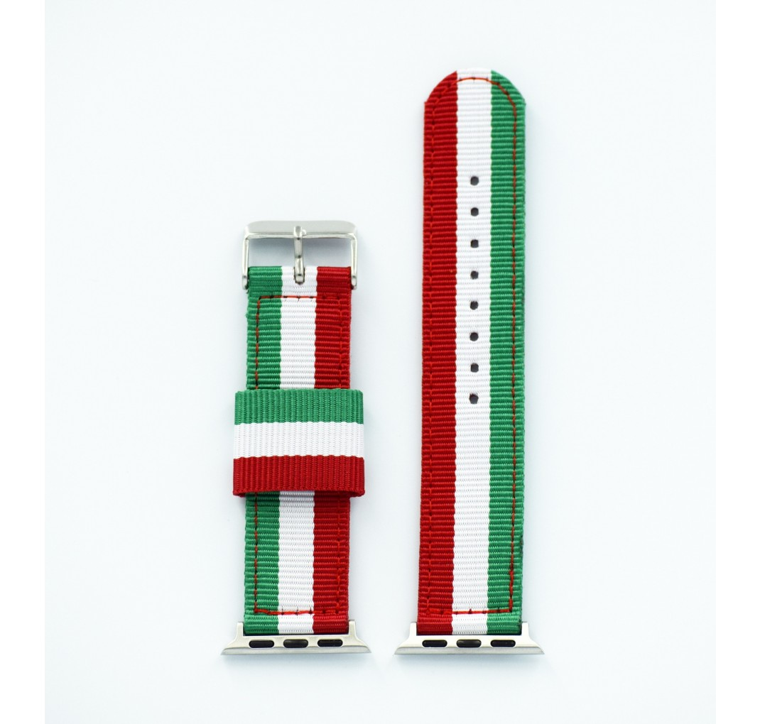 "Apple Watch rød/hvid/grøn ""Italy"" 38/40 mm"