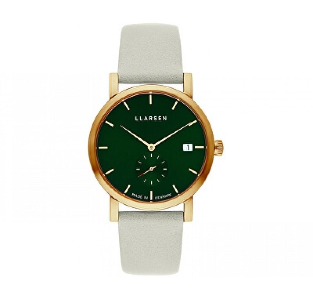 LLARSEN HELENA Gold Watch Dark Green