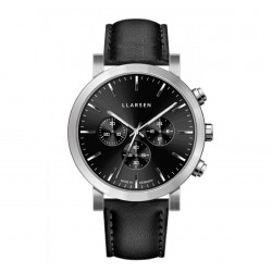 LLARSEN NOR Steel Watch Ink Leather