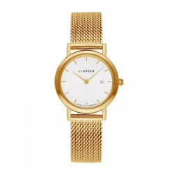 LLARSEN REGITZE Gold Watch Gold Bracelet