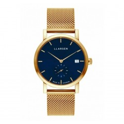 LLARSEN HELENA Gold Watch Dark Blue