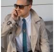 Patrick slips - blåtvævet med guldtråd