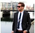 Oscar slips - Sortblå/sølvstribe