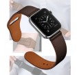 CarloA Apple Watch Coal Black læderrem 42/44 mm