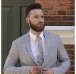 Jesper slips - Grå med guldstribet