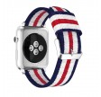 "Apple Iwatch Blå/hvid ""Navy"""" 42/44 mm"