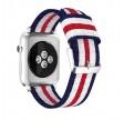 Apple Iwatch Nylonrem blå/hvid/lilla 38/40 mm