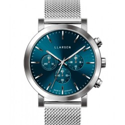 LLARSEN NOR Mesh Steel Blue Watch
