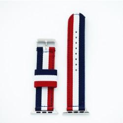 "Apple Watch Blå/hvid/rød ""London"" 42/44 mm"