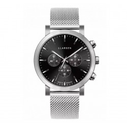 LLARSEN NOR Mesh Steel Watch