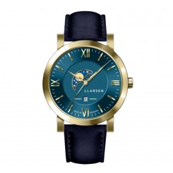 LLARSEN HUGO Gold Blue Leather