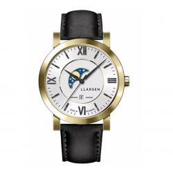 LLARSEN HUGO Gold Watch Ink Leather