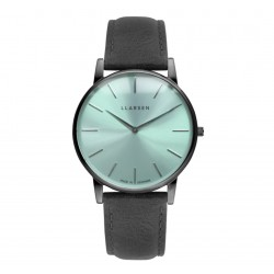 LLARSEN OLIVER Oxidized Watch Coal Leather