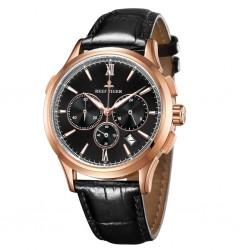REEF TIGER Seattle II Madison Chronograph RGA1669 Rosegold Black leather