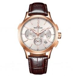REEF TIGER Seattle II Madison Chronograph RGA1669 Rosegold Brown leather